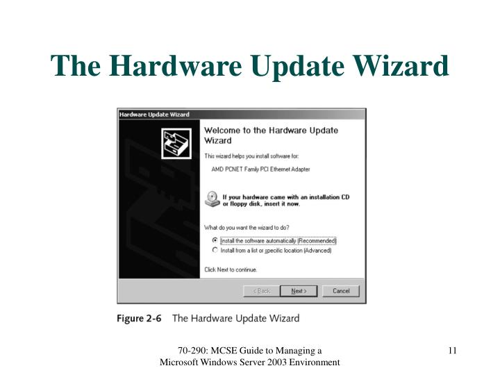 The Hardware Update Wizard