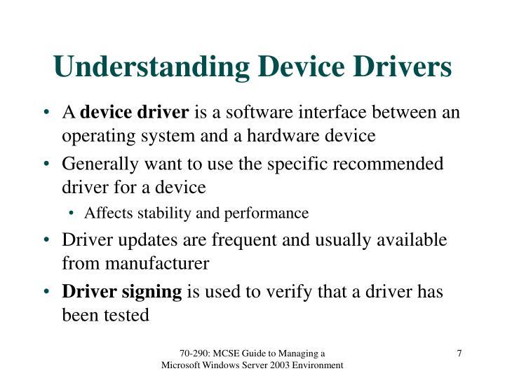 Understanding Device Drivers