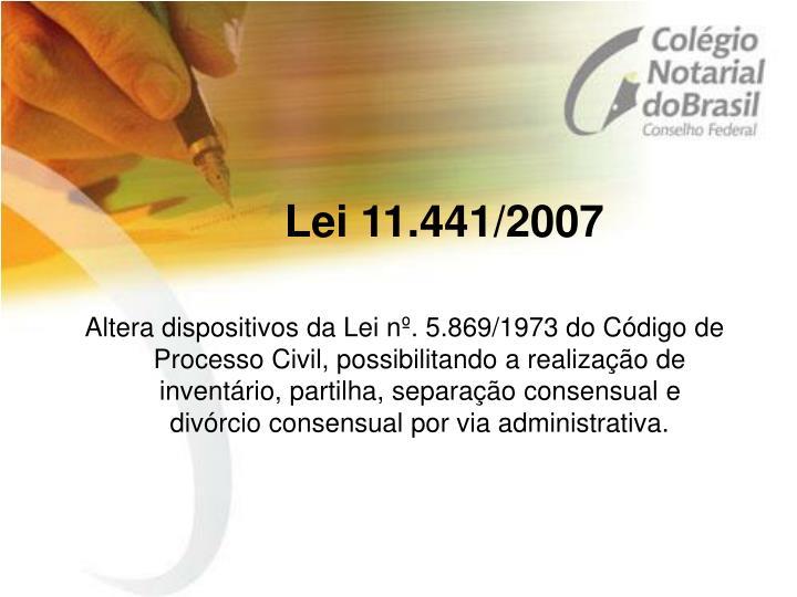 Lei 11.441/2007