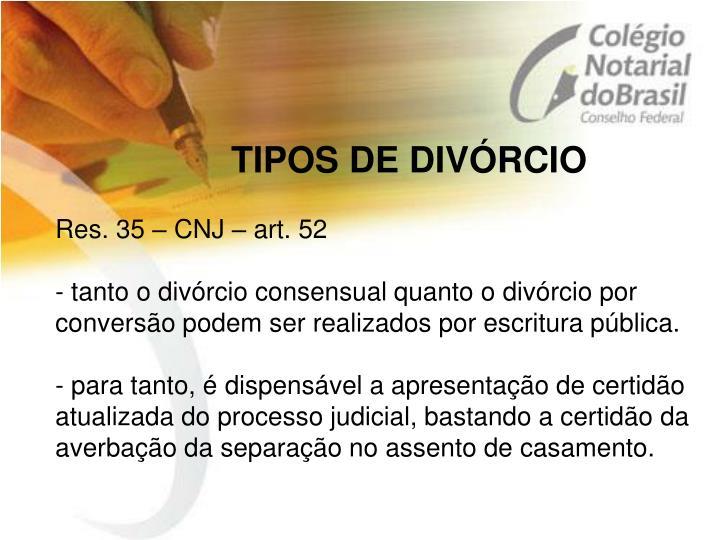 TIPOS DE DIVÓRCIO