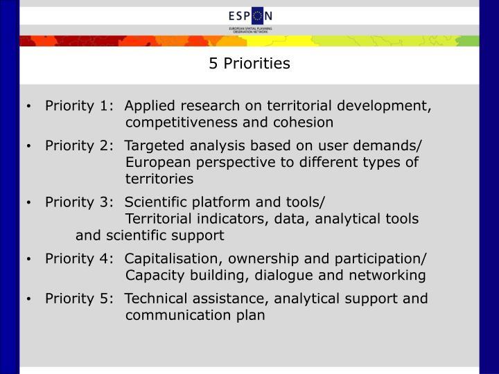 5 Priorities