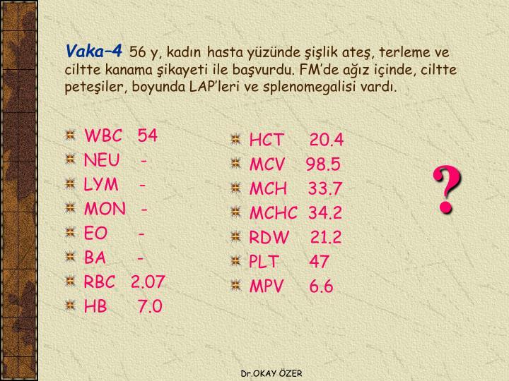 WBC   54