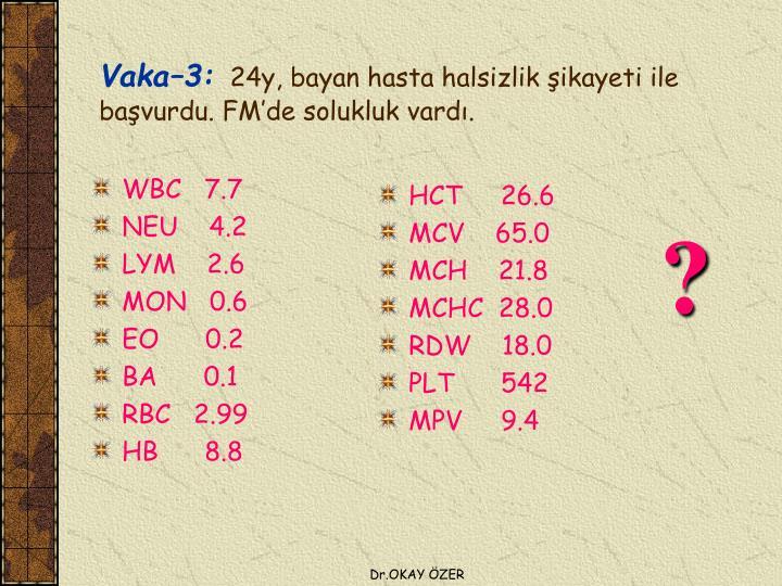 WBC   7.7