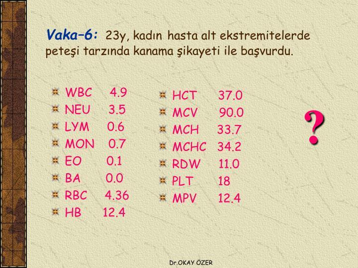 WBC     4.9