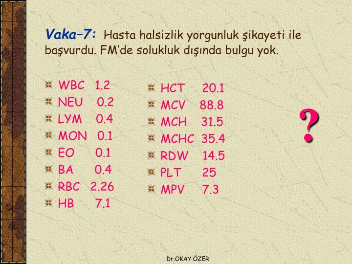 WBC   1.2