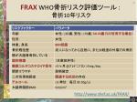 frax who 10