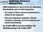 automatic resource management