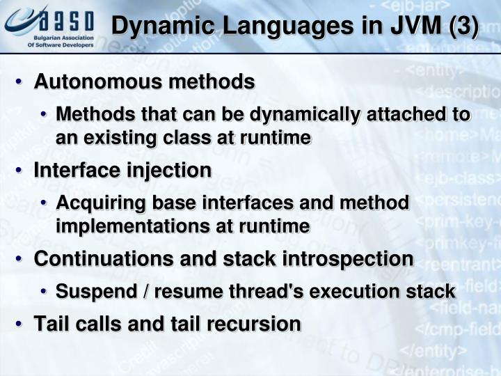 Dynamic Languages in JVM (3)