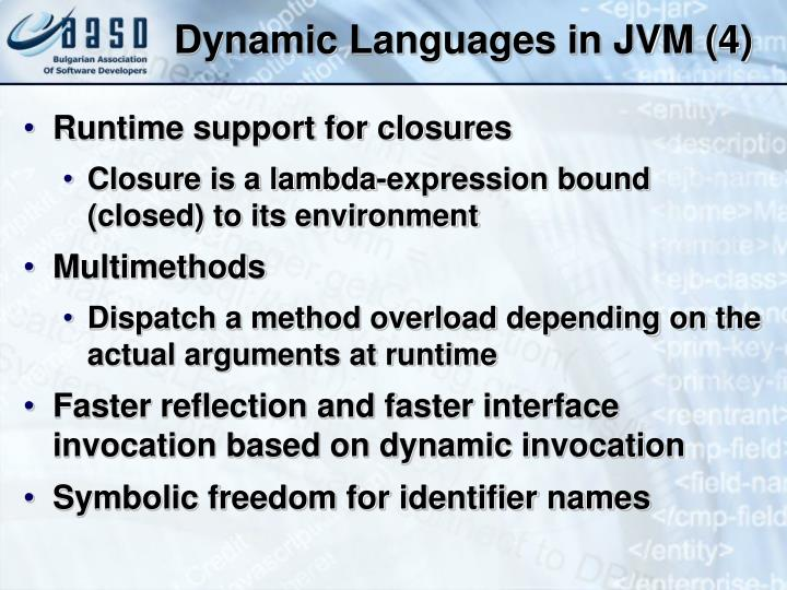 Dynamic Languages in JVM (4)