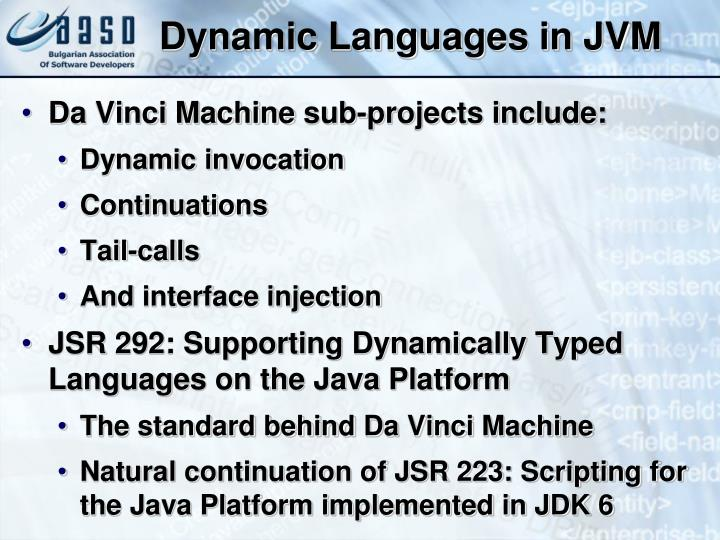 Dynamic Languages in JVM