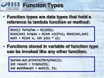 function types
