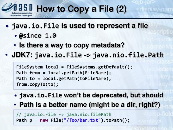 How to Copy a File (2)