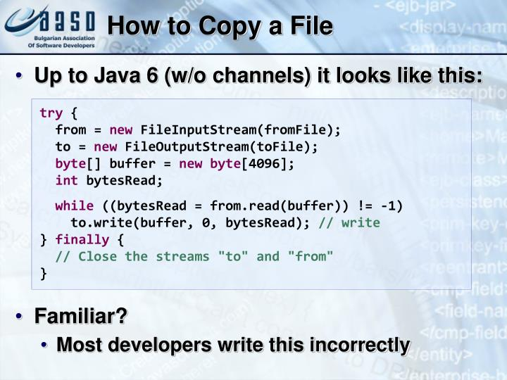 How to Copy a File