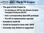 jdk7 the sctp project