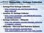 resources garbage collection