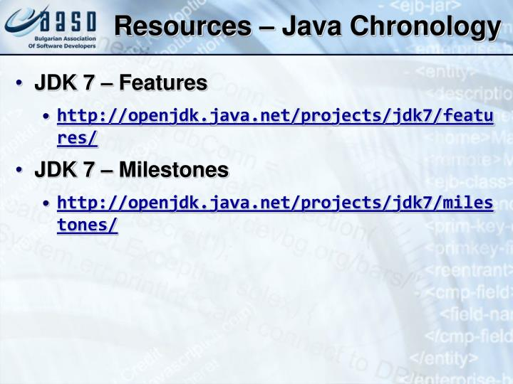 Resources – Java Chronology