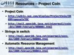 resources project coin