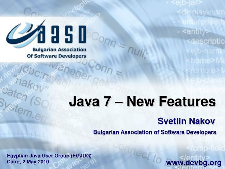 Java 7 – New Features