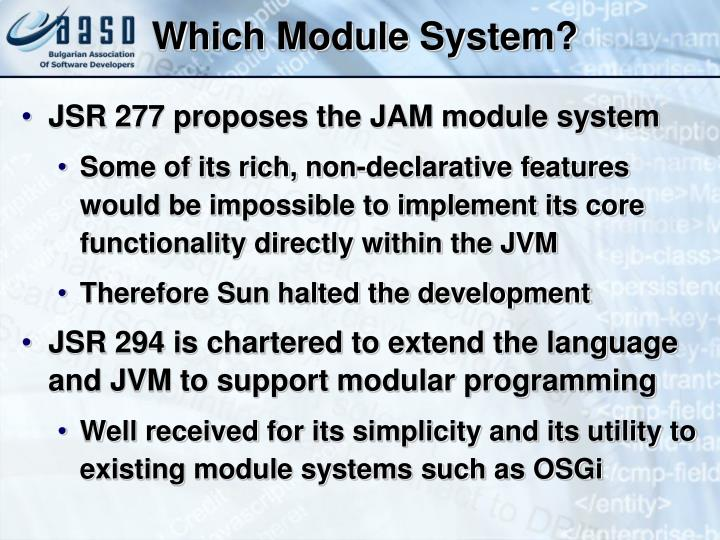 Which Module System?