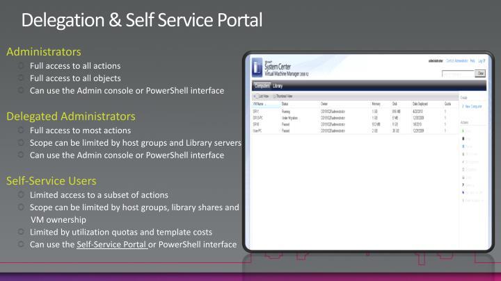 Delegation & Self Service Portal