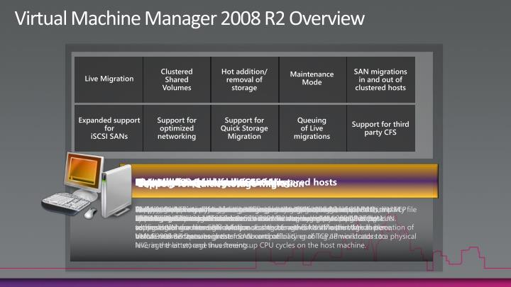Virtual Machine Manager 2008 R2 Overview