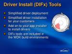driver install difx tools
