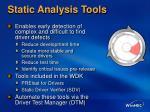 static analysis tools