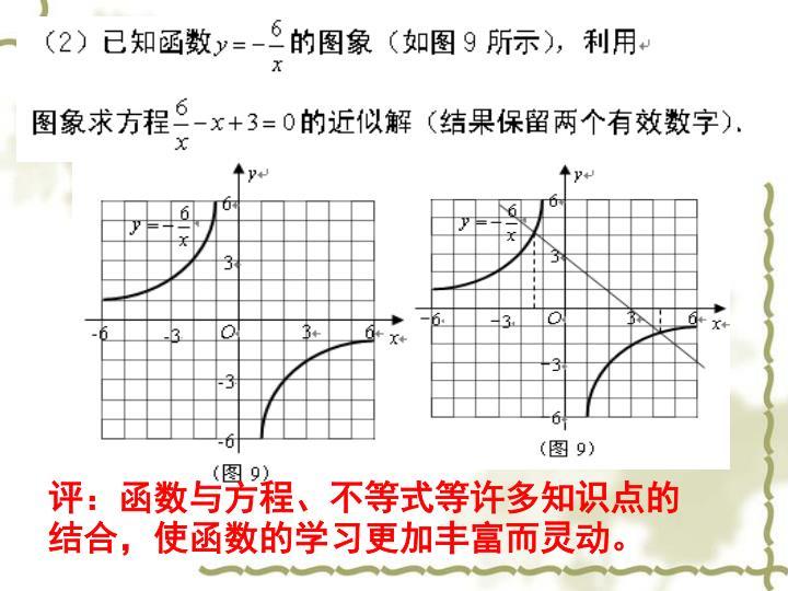 评:函数与方程、不等式等许多知识点的结合,使函数的学习更加丰富而灵动。