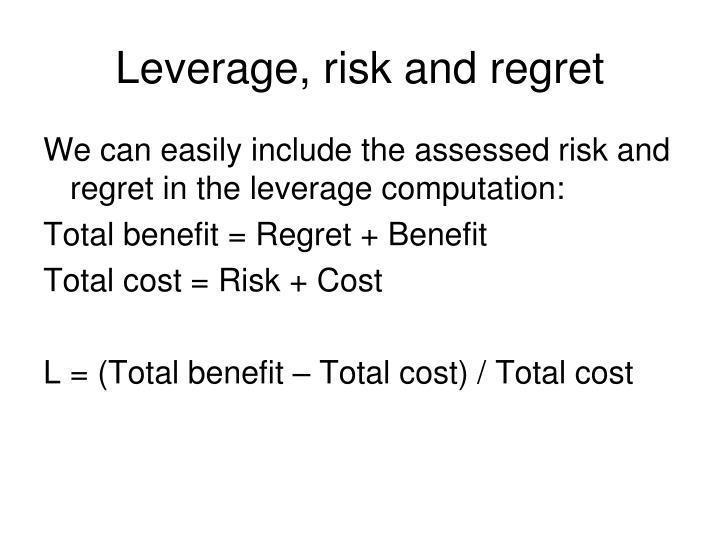 Leverage, risk and regret
