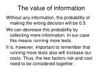 the value of information