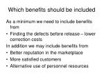 which benefits should be included