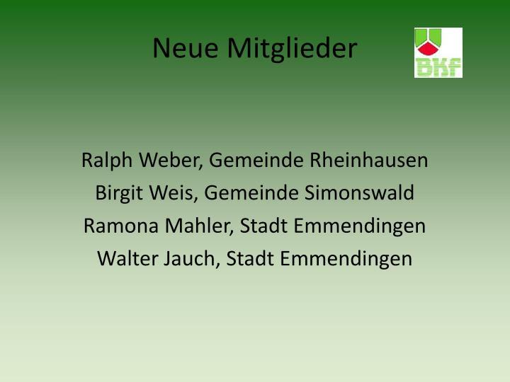Ralph Weber, Gemeinde Rheinhausen