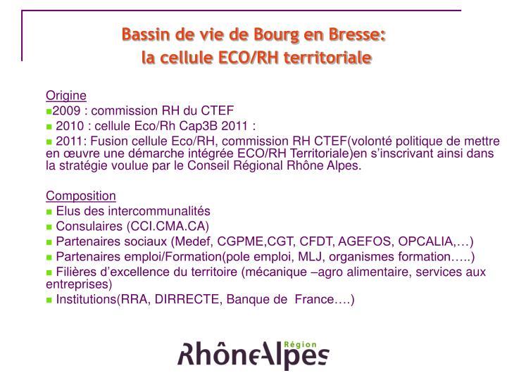 Bassin de vie de Bourg en Bresse: