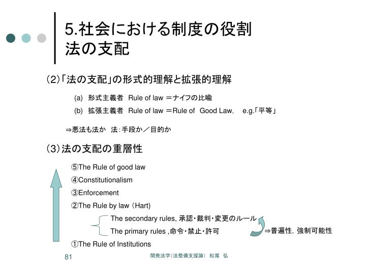 ⑤The Rule of good law