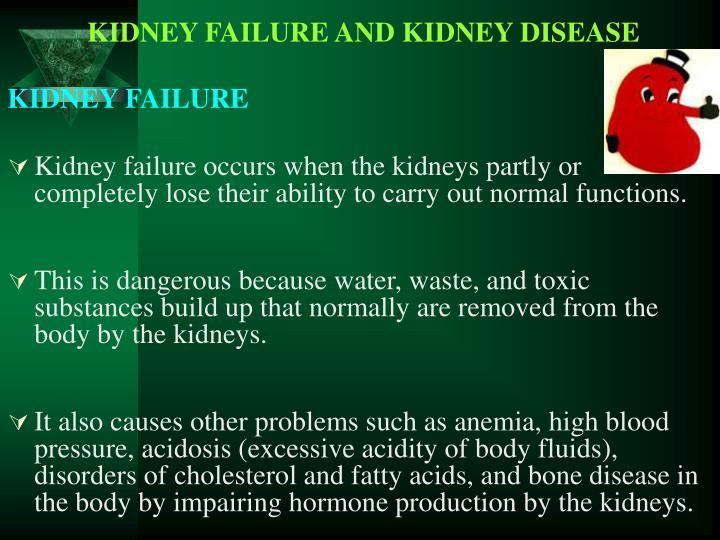 KIDNEY FAILURE AND KIDNEY DISEASE