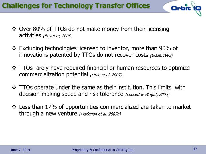 Challenges for Technology Transfer Offices