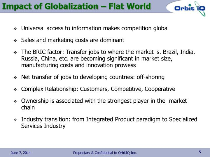 Impact of Globalization – Flat World