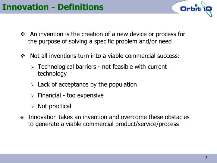 Innovation definitions