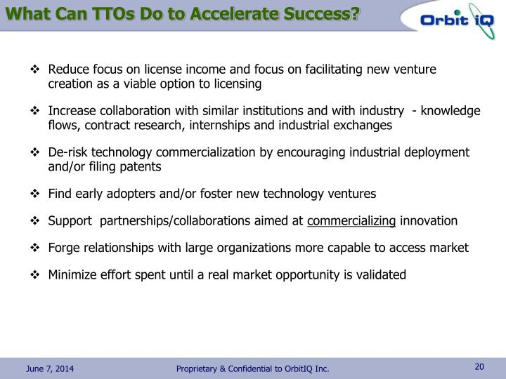 What Can TTOs Do to Accelerate Success?