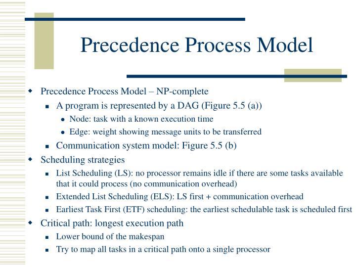 Precedence Process Model