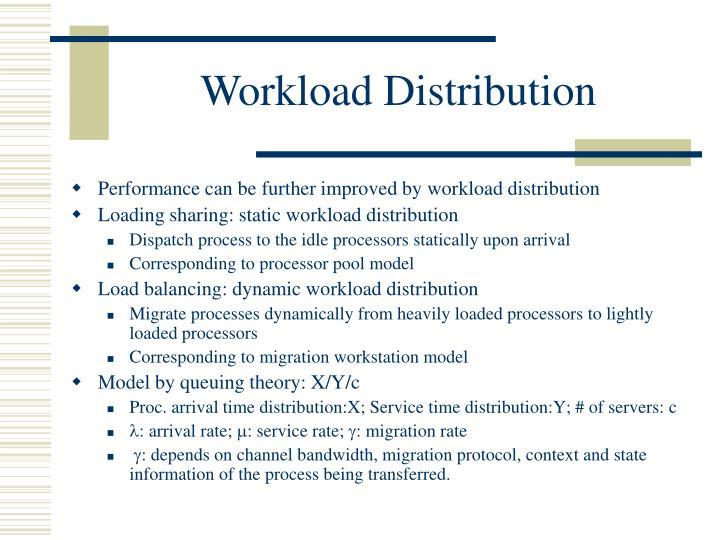 Workload Distribution