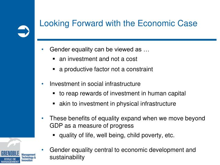 Looking Forward with the Economic Case