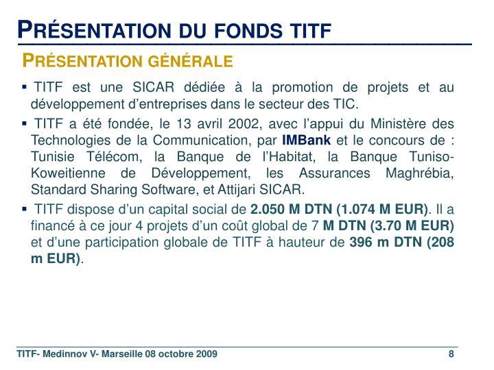 Présentation du fonds titf