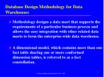 database design methodology for data warehouses1