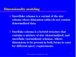 dimensionality modeling6