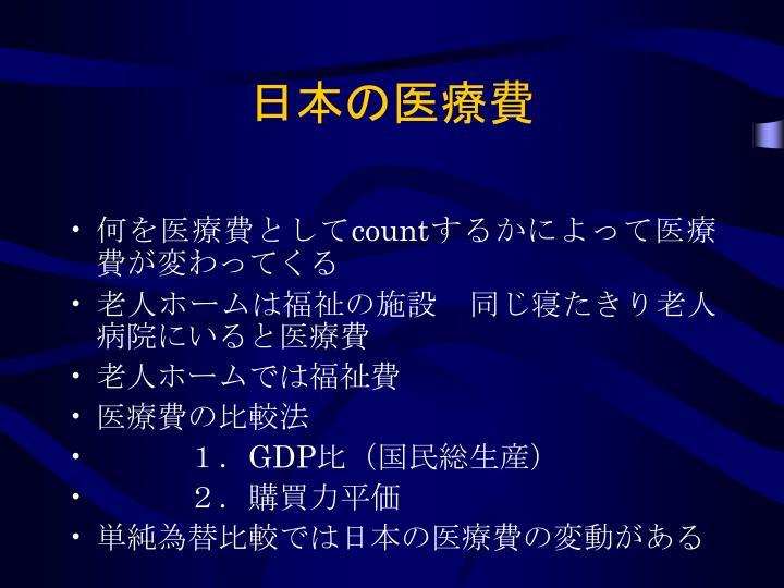日本の医療費