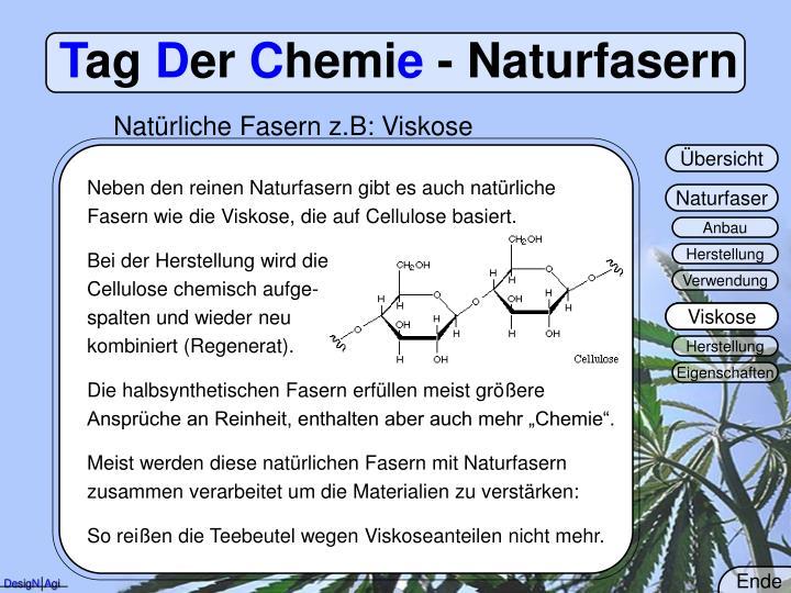 Natürliche Fasern z.B: Viskose