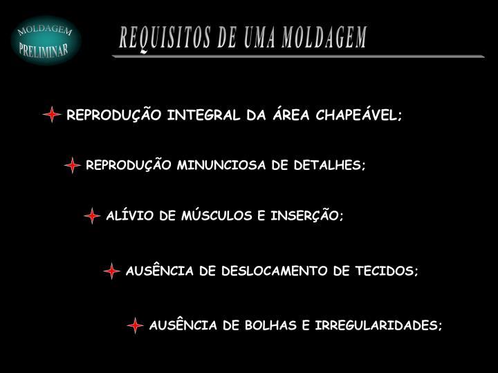 REPRODUÇÃO INTEGRAL DA ÁREA CHAPEÁVEL;