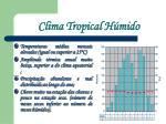 clima tropical h mido
