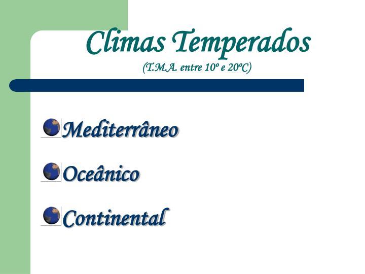 Climas Temperados